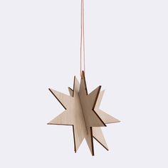 Wooden Star Medium - Birch