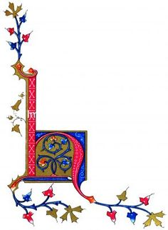 Illuminated Manuscript Letters 2 - Letter H