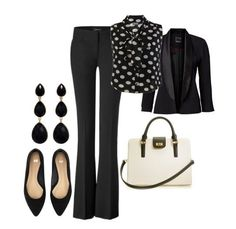 professional outfits- i want these polka dots. have the rest of this outfit