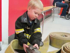 Chicago kids become mini-firefighters at FireZone in Schaumburg, where they can also meet real grown-up firefighters!