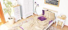 Białe meble drewniane. Białe meble prowansalskie z litego drewna sosnowego.  #białe #prowansalskie #drewniane #łóżka #aranżacje