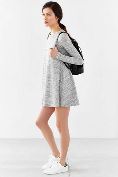 BDG Spacedye Swingy Tee Dress - Urban Outfitters