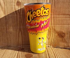 Orange and yellow Ink Features Hot Cheetos Ready to ship * Can be personalized just include note with purchase Vinyl Tumblers, Custom Tumblers, Lego Tumbler, Tumbler Boys, Glitter Cups, Glitter Glasses, Glitter Tumblers, Coffee Cup Crafts, Tumblr Cup