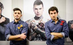 Leonardo Decarli, Federico Clapis e #Fedez nel #backstage di X Factor. #Outfit #ATPCO #XF8 #XFactor