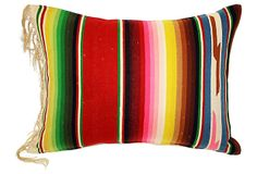 Serape    Pillow  w/ Fringe on OneKingsLane.com  Love this but I think I could make it myself.