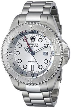Men's Wrist Watches - Invicta Mens 16958 Reserve Analog Display Swiss Quartz Silver Watch *** Learn more by visiting the image link. (This is an Amazon affiliate link)