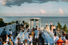 Azul Fives LUXE Destination Wedding Sky Deck Rooftop Ceremony and Reception