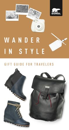 Take your adventures up a notch with travel-ready boots and accessories. Durable and stylish, this beautiful carry-all is crafted of rich, full-grain leather, and pairs perfectly with the boots of your choice. A comfortable wedge heel and waterproof full-grain leather make both the Lea Wedge Boot and PDX Wedge Boot your perfect travel companion. Wander in style when you shop SOREL.