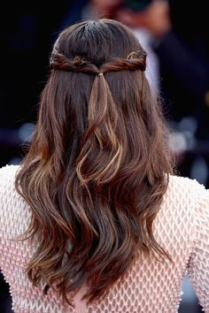 "Actress Eva Longoria, hair detail, attends the ""Cafe Society"" premiere and the Opening Night Gala during the 69th annual Cannes Film Festival at the Palais des Festivals on May 11, 2016 in Cannes, France."