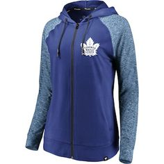 Fanatics Branded Toronto Maple Leafs Women's Blue/Heathered Blue Made 2 Move Toronto Raptors, Ml B, Toronto Blue Jays, Toronto Maple Leafs, Full Zip Hoodie, Sport Outfits, Nhl, Hooded Jacket, Sports Teams