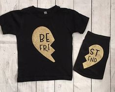 Best Friends Kid and Dog Matching Shirts - Dog Owner Gift - Personalized Dog Shirt - Dog Clothing - Dog Lover - Pet and Owner Matching Shirt