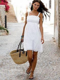 Image result for white summer sundress