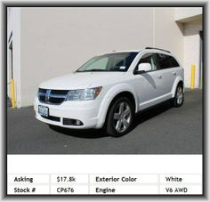 2010 Dodge Journey SXT SUV  Key In Ignition/Seat Belt Warning Buzzer, Body-Color Fascias, Auxiliary Pwr Outlet, Body-Color Mirrors, Glove Box Lamp, 3.5L Mpi 24-Valve Ho V6 Engine, Pwr Windows W/1-Touch Up/Down, Intermittent Wipers, Rear Window Defroster, Steering Wheel Audio Controls, Fog Lamps, Sentry Key Theft Deterrent System, Privacy Glass