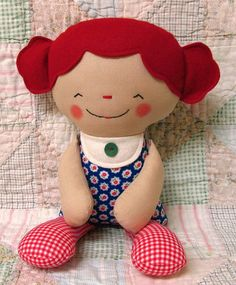 Rag Doll Pattern Cloth Doll Softie Pattern Soft Toy by OhSewDollin, $10.00