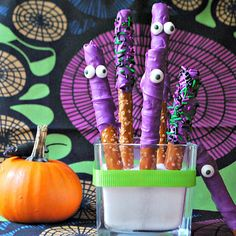 3-Ingredient Pretzel Party Sticks | 27 Spooktacular Halloween Ideas