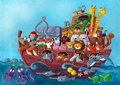 Noah's Ark - illustration for mywall.gr