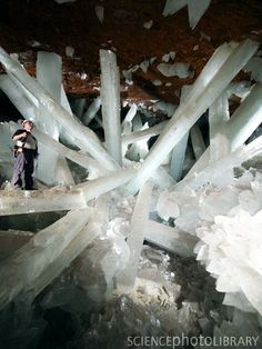 Naica Mine, The Cave of Giant Crystals, Mexico - 122 degrees F and 90% humindity