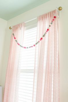 Project Nursery Girls Nursery Window Treatment More - Kids Curtains - Ideas of Kids Curtains Nursery Curtains Girl, Kids Room Curtains, Chic Nursery, Girl Nursery, Girl Room, Kids Bedroom, Baby Room, Curtains Living, Child's Room