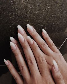 10 Popular Fall Nail Colors for 2019 10 Popular white Fall Nail Color. 10 Popular Fall Nail Colors for 2019 10 Popular white Fall Nail Color.,bu 10 Popular Fall Nail Colors for 2019 10 Popular white Fall Nail Colors for 2019 Design Cute Nails, Pretty Nails, My Nails, Long Almond Nails, Fall Almond Nails, White Almond Nails, Almond Shape Nails, Fall Nail Trends, Almond Nails Designs