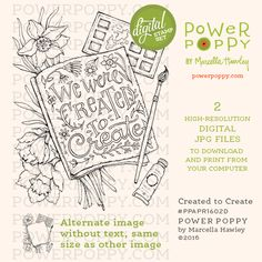 Created to Create Digital Stamp Set | Power Poppy by Marcella Hawley