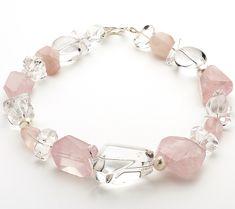 Rose Quartz Fresh Water Pearl and Clear Quartz Necklace