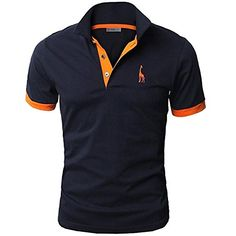 Amazon.com: Men's Fashion Personality Cultivating Short-sleeved Shirt POLO: Clothing