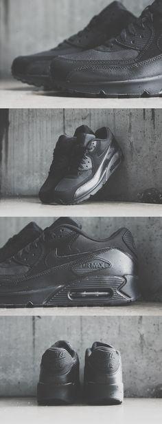 """f8e3e4d58834 Nike Air Max 90 Essential """"Triple Black"""" Nike Air Max Black"""
