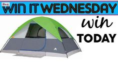 WIN IT WEDNESDAY!!! WIN A NEW TENT  >>>http://bit.ly/1i4qxTr