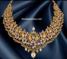 Flat Diamond Peacock Necklace photo