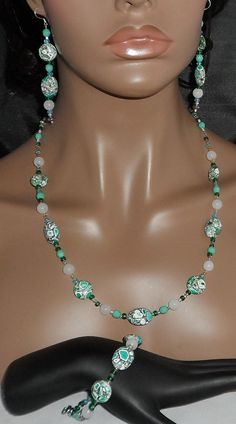 Sea Green Turkey Turquoise Necklace Bracelet and by JaymoJewels, $40.00
