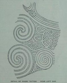 maori tattoo detail
