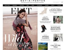 Net-a-Porter Considered the ultimate online shopping destination, Net-a-Porter never fails to deliver. With a unique watch-as-they-buy feature that allows you to see items being shopped in real time and a wedding section that offers anything and everything bridal, the website has also branched out to include beauty, recently adding model Miranda Kerr's beauty line Kora Organics to its well-rounded beauty section.