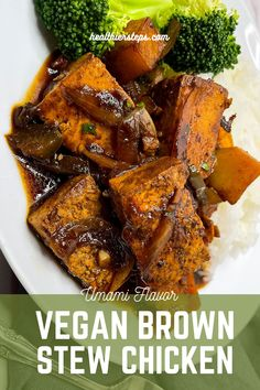 Although making this vegan brown stew chicken dish is super easy, here are a few tips and tricks that will result in perfect brown stew tofu: go to healthiersteps.com Jamaican Chicken, Jamaican Dishes, Easy Chicken Recipes, Healthy Chicken, Brown Stew Chicken, Best Dinner Recipes, Tofu, Super Easy, Vegan Recipes