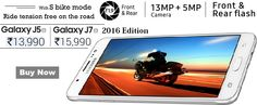 Samsung Galaxy J5 J7 - 6 (New 2016 Edition)(White, 16 GB) with 13MP & 5MP Camera Dual Flash, 2GB RAM 16 GB ROM