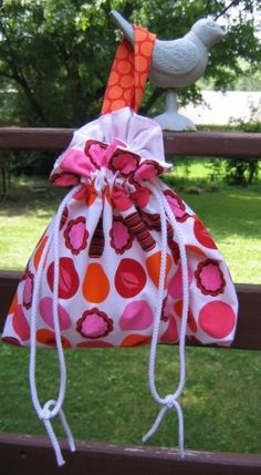 Easy-as-Pie Lined Drawstring Bag pattern