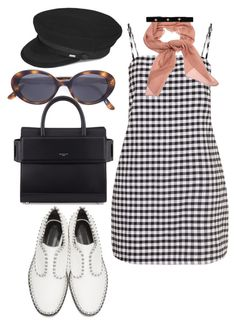 """Untitled #1023"" by veronice-lopez on Polyvore featuring Salvatore Ferragamo, Oliver Peoples, Givenchy, Alexander Wang, Yves Saint Laurent and Bartoli"