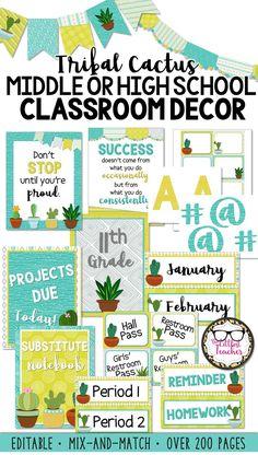 212 Best Secondary Classroom Decor Images On Pinterest Classroom