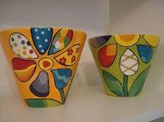 Pin on Painted Pots Flower Pot Art, Flower Pot Design, Flower Pot Crafts, Clay Pot Crafts, Painted Plant Pots, Painted Flower Pots, Pottery Painting Designs, Pottery Art, Ceramic Pots