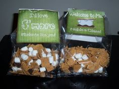 """S'mores Trail Mix"" made with Golden Grahams, mini marshmallows, and chocolate chips!  Yum!"
