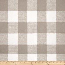Premier Prints Anderson Ecru Taupe Buffalo Check Plaid Fabric