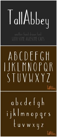 Tall Abbey -- hand-drawn font