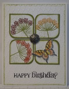 In My Craft Room Wildflowers and Butterflies Card is part of Butterfly cards - Making Greeting Cards, Greeting Cards Handmade, Butterfly Cards, Flower Cards, Stamping Up Cards, Rubber Stamping, Embossed Cards, Card Sketches, Paper Cards