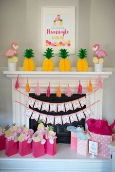 Flamingo + Flamingle Pineapple Party at Kara's Party Ideas. See more at karaspartyideas.com!