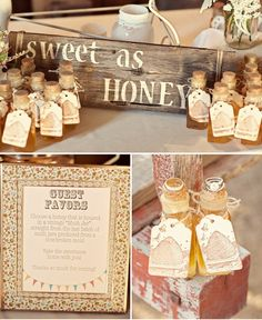 cute favors for wedding guests at a Milk  Honey Farm event!