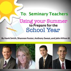 All seminary teachers should read this!  Some great thoughts for parents too!