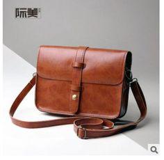 a63d2e52ca3 US  12.68 25% OFF Women s vintage handbags female PU leather shoulder messenger  bag ladies small pouches bags bolsas feminina bolsos for girls-in Shoulder  ...