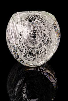 Thicket Series in White by eastfallsglass, via Flickr