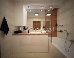 Łazienka styl Nowoczesny - zdjęcie od GAMArchitect Bathroom Lighting, Bathtub, Mirror, Furniture, Home Decor, Bathroom Light Fittings, Standing Bath, Bathroom Vanity Lighting, Bathtubs