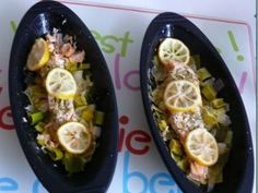 Papillotes en silicone : pavé de saumon au poireaux, Recette Ptitchef