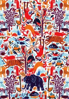 animal party pattern